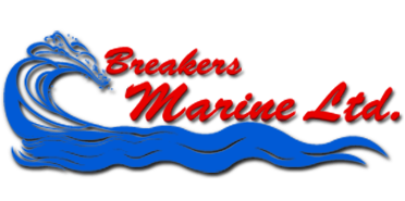The logo of Breaker's Marine