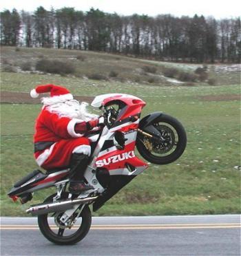 Suzuki, christmas, holidays, outboard, atv, motorcycle, santa