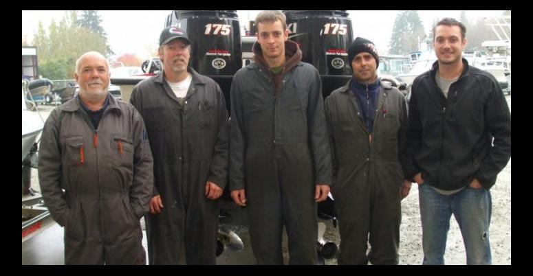 Service in Port Alberni - Bob, Mike, Clayton, Chad and co-owner Dennis